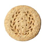 Oatmeal Cookie. Over white royalty free stock photography