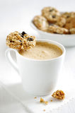Oatmeal cookie with coffee Royalty Free Stock Photo