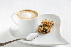 Oatmeal cookie with coffee Stock Images