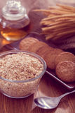 Oatmeal cookie. On table-Filtered Images stock photography