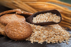 Oatmeal. Cookie on table,healthy food stock image