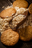 Oatmeal. Cookie on table,healthy food stock photography
