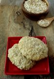 Oatmeal cookie. On a wooden board Stock Photo