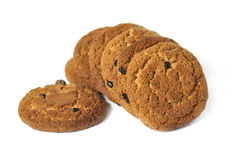 Oatmeal cookies. Isolated over white Stock Photo