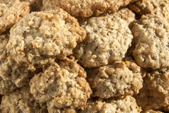 Oatmeal cookies. Homemade oatmeal cookies closeup detail  as background royalty free stock photos