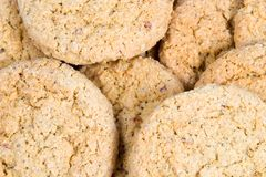 Oatmeal Cookies. A pile of oatmeal cookies Stock Image