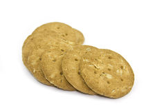 Oatmeal cookies. Isolated on white background royalty free stock image
