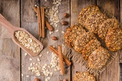 Oatmeal cookies with banana and cinnamon Royalty Free Stock Image