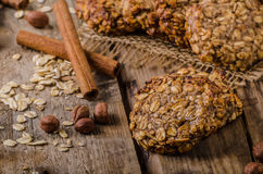 Oatmeal cookies with banana and cinnamon Royalty Free Stock Images