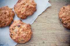 Oatmeal cookies on a board Stock Photography