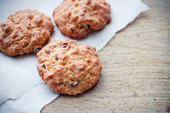 Oatmeal cookies on a board Royalty Free Stock Photo