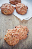 Oatmeal cookies on a board Royalty Free Stock Photos
