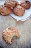 Oatmeal cookies on a board Royalty Free Stock Images