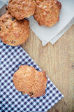 Oatmeal cookies on a board Royalty Free Stock Image
