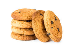 Oatmeal cookies with chocolate Royalty Free Stock Photos
