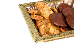 Oatmeal cookies and chocolate wafers. Delicious oatmeal cookies and chocolate wafers Stock Images
