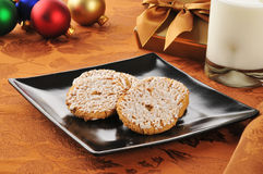 Oatmeal cookies at Christmas Stock Images