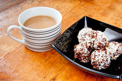Oatmeal cookies and coffee Royalty Free Stock Photography