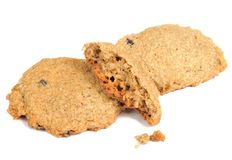Oatmeal Cookies with Crumbs Royalty Free Stock Image