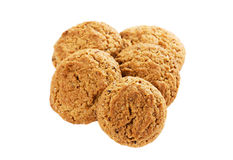 Oatmeal cookies isolated Stock Photos