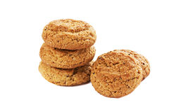 Oatmeal cookies isolated Royalty Free Stock Photo