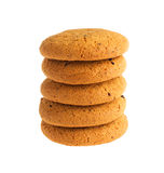 Oatmeal cookies isolated on white background Stock Images