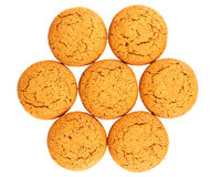 Oatmeal cookies isolated on white background Stock Photo