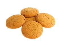 Oatmeal cookies isolated on white background Royalty Free Stock Images