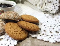 Oatmeal cookies with milk Royalty Free Stock Photography