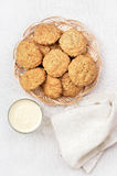 Oatmeal cookies and milkshake Royalty Free Stock Image