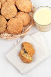 Oatmeal cookies and milkshake Stock Photo