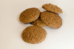 Oatmeal cookies. Are one of the most popular types of homemade cookies. The use of oatmeal, simplicity of cooking, pleasant taste, variability - there are many Stock Images