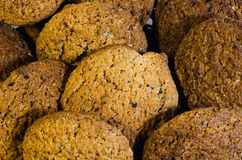 Oatmeal cookies. Are one of the most popular types of homemade cookies. The use of oatmeal, simplicity of cooking, pleasant taste, variability - there are many Royalty Free Stock Images