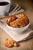 Oatmeal cookies with raisins Stock Photo