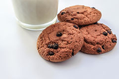 Oatmeal cookies with raisins Royalty Free Stock Photography