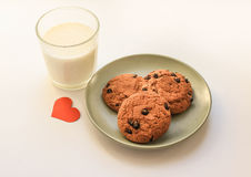 Oatmeal cookies with raisins. Stock Photography