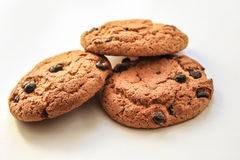 Oatmeal cookies with raisins Stock Image