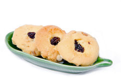 Oatmeal cookies with raisins Royalty Free Stock Photo