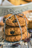 Oatmeal cookies with raisins. Royalty Free Stock Photos