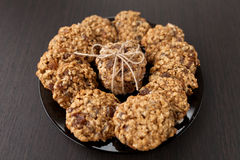 Oatmeal cookies with raisins Royalty Free Stock Images