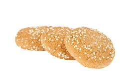 Oatmeal cookies with sesame seeds Royalty Free Stock Photos