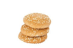 Oatmeal cookies with sesame seeds Royalty Free Stock Photo