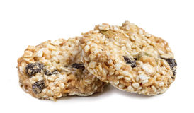Oatmeal cookies with sesame seeds Stock Photo