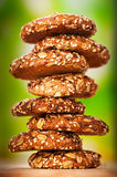 Oatmeal cookies with a splash Royalty Free Stock Photography