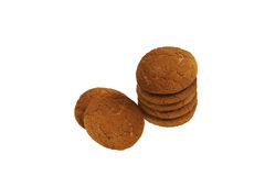Oatmeal cookies. Stacked. close-up Stock Images