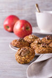 Oatmeal cookies with walnuts Royalty Free Stock Photography