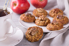 Oatmeal cookies with walnuts Royalty Free Stock Image