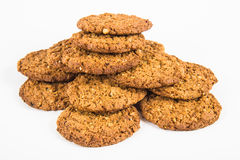 Oatmeal cookies on a white background isolation Royalty Free Stock Photo