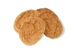Oatmeal cookies on white. Royalty Free Stock Images