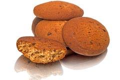 Oatmeal cookies on white Stock Photos